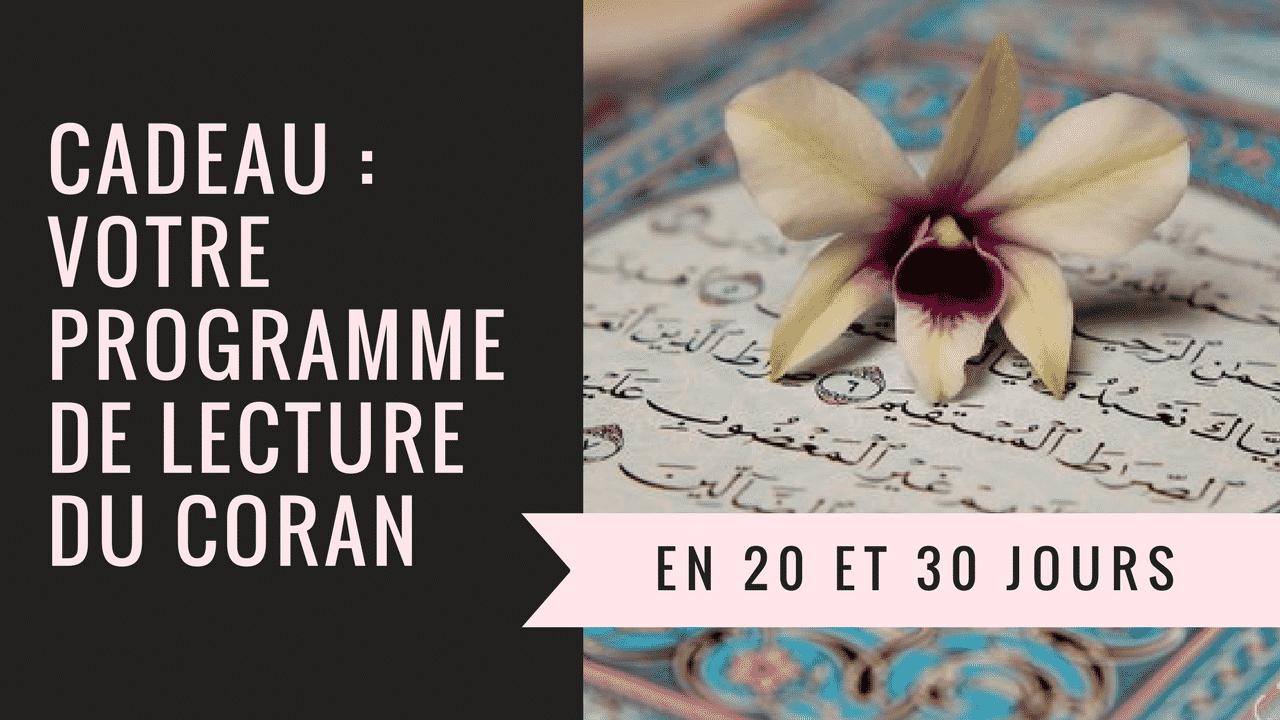 Votre planning de lecture du Coran